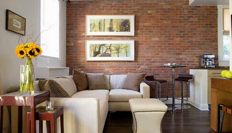 Bricks in your living room wall
